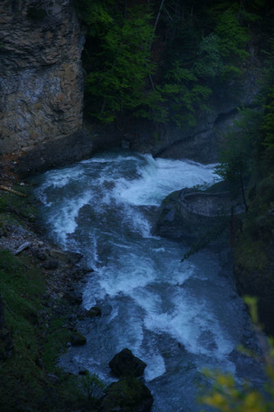 Le haut de la cascade del Estrecho