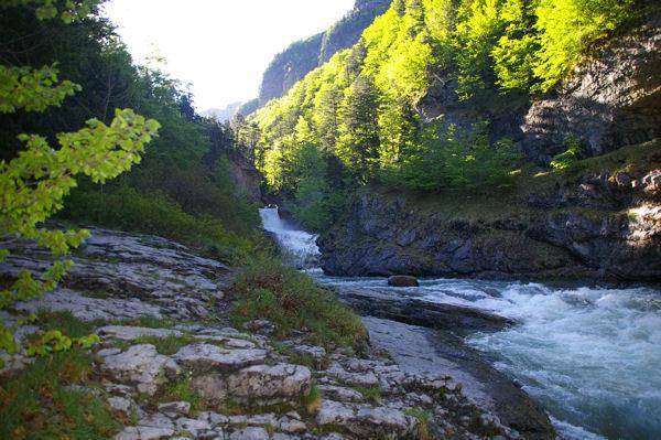 Le rio Arazas avant de verser dans la cascade del Estrecho