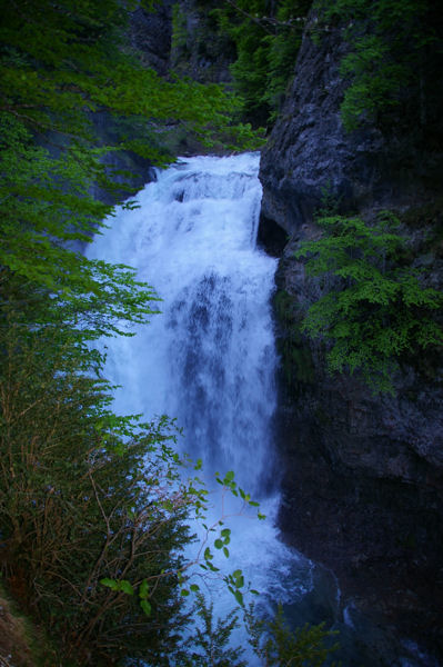 La cascade de la Cueva