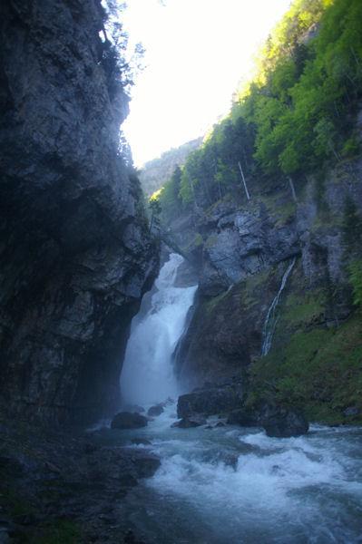 Le bas de la cascade del Estrecho