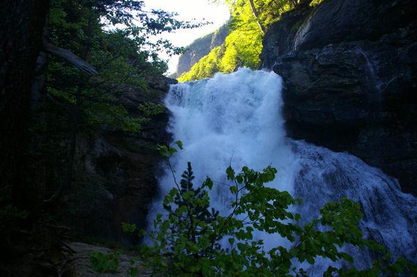 Le milieu de la cascade del Estrecho