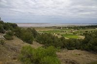 Vue des Salins de Gruissan depuis Gamare