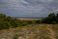 Vue des Salins de Gruissan depuis l'Ile St Martin