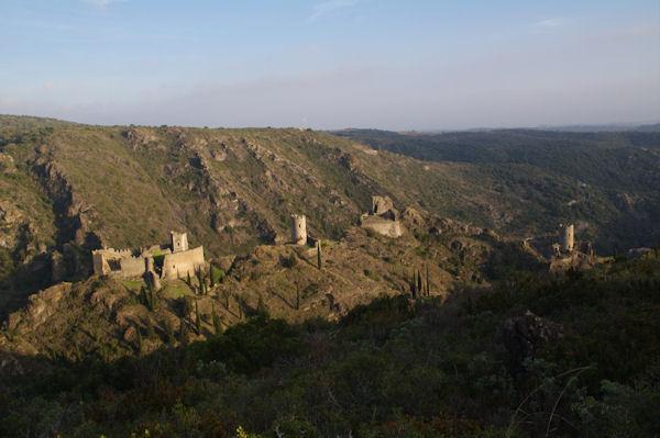 Quertinheux, Surdespine, la Tour Regine et Cabaret depuis le Mont Clergue