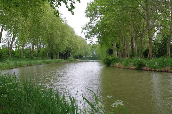 Le Canal du Midi vers le Petit St Siméon
