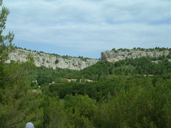 Le Rec d'Argent depuis le plateau des Caunes