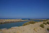 La sortie du canal menant a l'ancien Port de Gruissan
