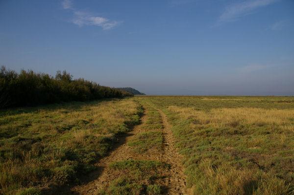 Le départ du chemin vers l&#39étang de Campignol