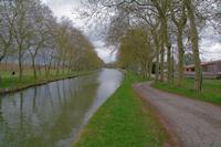 Le Canal du Midi en aval de l'ecluse de la Mediterranee