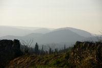 Les monts des Corbières depuis la Métairie Miraillès