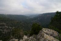 La vallee de l&#39Orbieu depuis le roc de Notre Dame du Carla