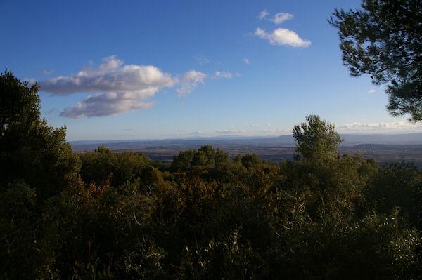 La vallée de l&#39Aude, au fond, la Montagne d&#39Alaric
