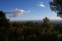 La vallee de l'Aude, au fond, la Montagne d'Alaric