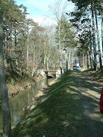 Le pont sur la Rigole entre Lamarque et La Barthole