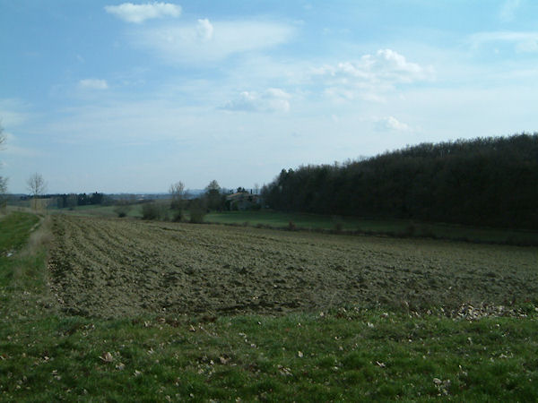Paysage du Lauragais depuis la Rigole