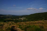 Vue de Pradelles Cabardes depuis le GR37