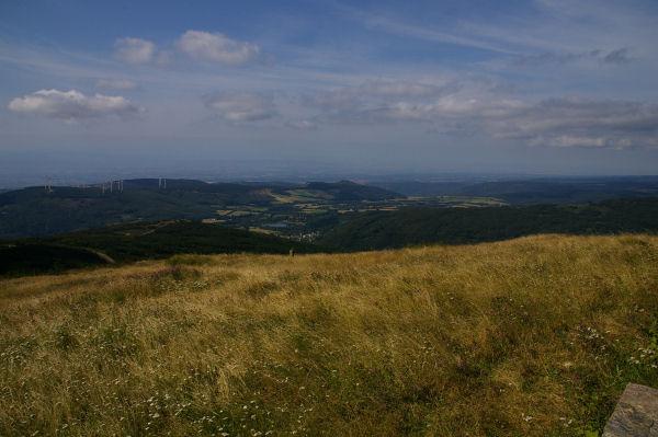 Vue de Pradelles Cabardès depuis le Pic de Nore