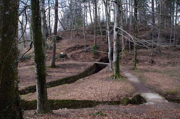 Dédale sous le barrage du Lampy Neuf