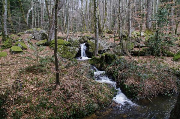 Une cascade du ruisseau de Bergnassonne