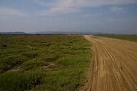 Le chemin sablonneux menant a la Plage du Grazel