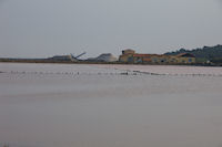 Les installations de purification du sel a Gruissan