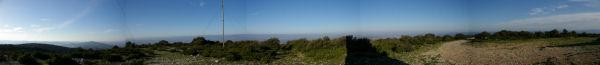 Panoramique vers l'Est au Signal Alaric