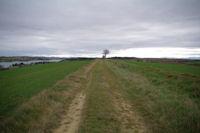 Le chemin au dessus du lac de la Ganguise