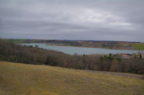 Le lac de la Ganguise vers La Maingeotte