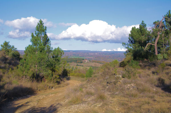 La vallée de la Lauze depuis le Trapadous