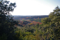 Le vallon du Rossignol depuis Les Gravettes