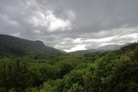 La vallee du Jaur vers l'Ouest depuis La Trivalle