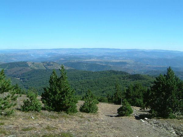 Vue au Nord depuis le Mt Aigoual