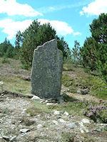 Un menhir sous le Mt Aigual