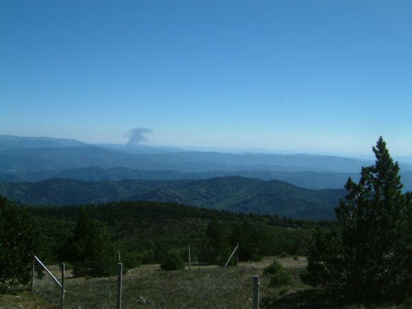 Vue à l'Est depuis le Mt Aigoual