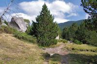 La vallee superieure de la Riviere d'Angoustrine, au fond, le Roc de la Calma