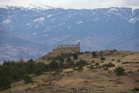 La chapelle de Santa Maria de Belloc depuis l'Argila