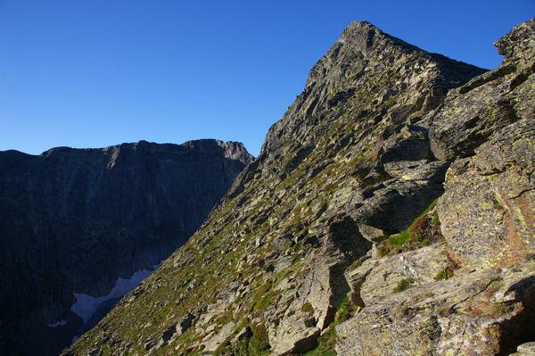 Le Canigou et derrière le Pic Barbet depuis La Porteille