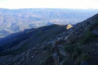 La crete Nord du Canigou, Prades dans le fond