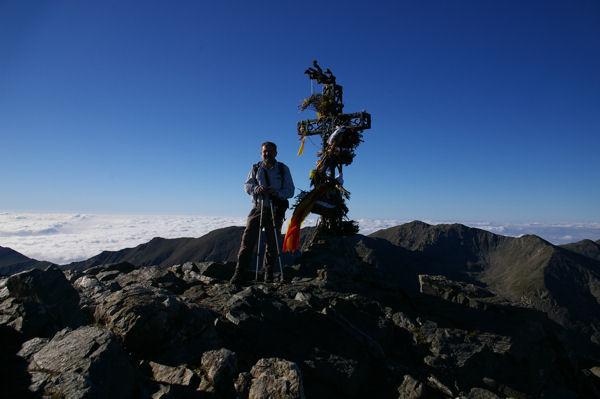 Fred au sommet du Pic du Canigou
