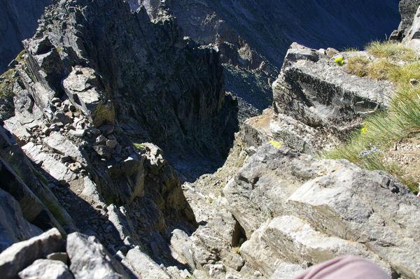 La cheminée Sud du Canigou, plus impressionnante que difficile!