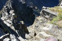La cheminee Sud du Canigou, plus impressionnante que difficile!