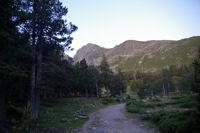 Au petit matin sur le GR36, le Canigou au fond