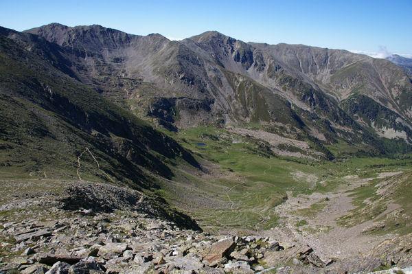 Le vallon de Cady depuis les flancs du Pic Barbet