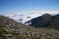 Le Pic Gallinasse depuis les flancs du Pic Barbet