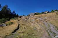 Le chemin au dessus de l'Estany Vallell