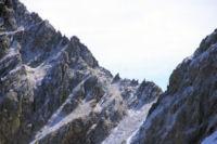La Portella Roja et la crete dentelee du Puig Pedros depuis le versant Nord du Cap de Llosada