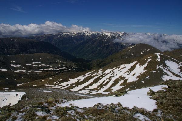 Les vallées de Querforc, de Cortal Rosso et du Carol depuis l antécîme du Puig de Coma d Or
