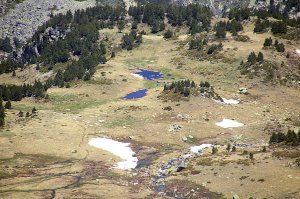 Le Clot des Pujols depuis le versant Nord du Cap de Llosada
