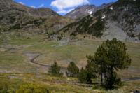 La vallee de Querforc, au fond, la Portella de Lanos