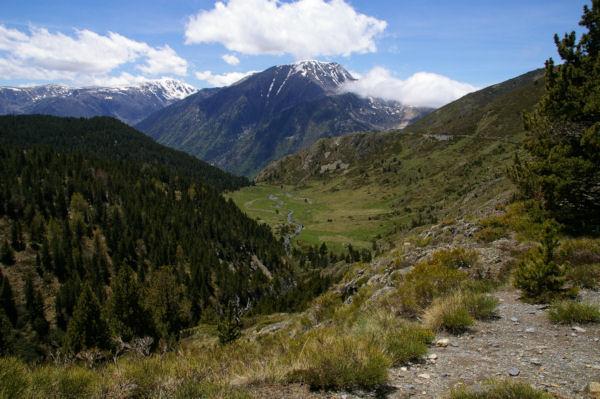 La vallée de Cortal Rosso, au fond, Le Pic de Font Freda